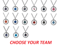 NFL Football Team Logo Womens Ladies Rhinestone Hoop Necklace Pick Your Team