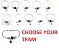 NFL Football Team Logo Womens Ladies Bead Bracelet Pick Your Team
