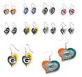NFL Football Swirl Heart Earrings Pick Your Team