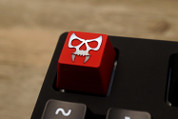 Three Beeline Skull Hand-Crafted Backlit Keycap - Red
