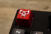 Three Beeline Skull Hand-Crafted Backlit Keycap - Red
