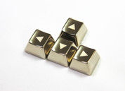 MKC Silver Triangle Metal (Zinc) Arrow Keyset