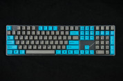 GeekKeys Blue/Grey Dyesub Thick PBT Full Keyset