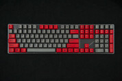 GeekKeys Red/Grey Dyesub Thick PBT Full Keyset