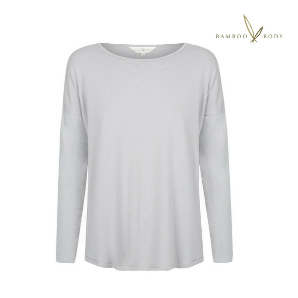 Bamboo Slouch PJ Top - Soft Grey