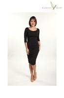 Women's 3/4 Sleeve Bamboo Dress - Black