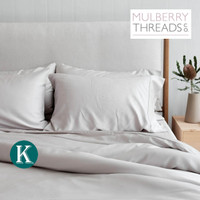 Bamboo Sateen Quilt Cover by Mulberry Threads Co. - KING - Silver