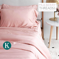 Bamboo Sateen Quilt Cover by Mulberry Threads Co. - KING - Rose