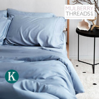 Bamboo Sateen Quilt Cover by Mulberry Threads Co. - KING - Chambray