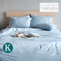 Bamboo Sateen Quilt Cover by Mulberry Threads Co. - KING - Sky Blue