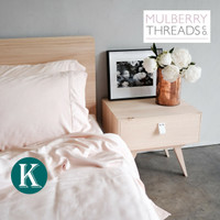 Bamboo Sateen Quilt Cover by Mulberry Threads Co. - KING - Blush