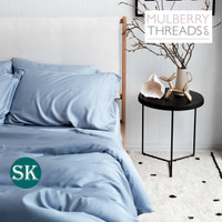 Bamboo Sateen Quilt Cover by Mulberry Threads Co. - SUPER KING - Chambray
