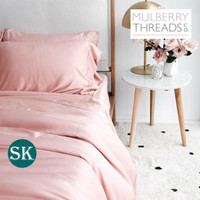 Bamboo Sateen Quilt Cover by Mulberry Threads Co. - SUPER KING - Rose