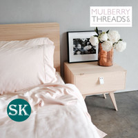 Bamboo Sateen Quilt Cover by Mulberry Threads Co. - SUPER KING - Blush