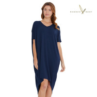Women's Bamboo Sybil Dress - Navy