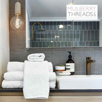 Mulberry Threads Co. Bamboo Towels - White