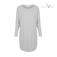 Niah Bamboo Long Sleeve Night Dress - Soft Grey