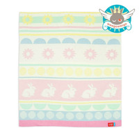 Weegoamigo Knitted Bamboo Baby Blanket - Poppy