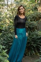 Women's Isy Long Bamboo Skirt - Spruce
