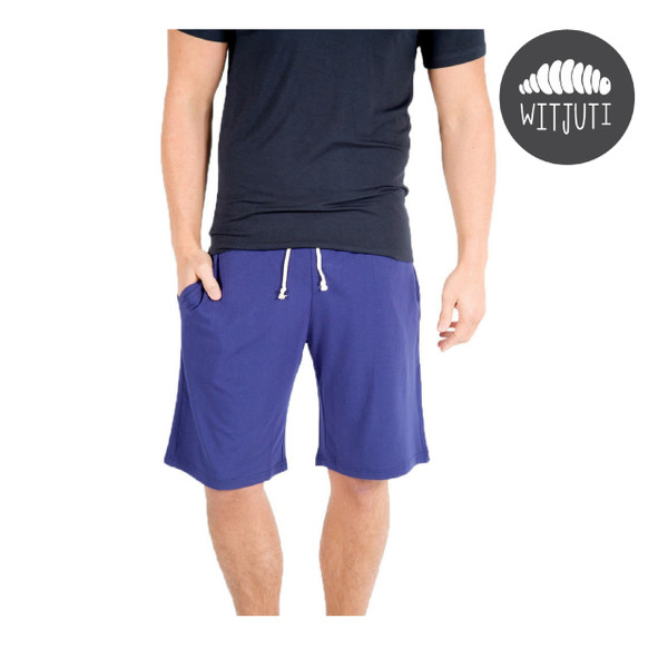 Men's Lightweight Bamboo Shorts by Witjuti - Navy