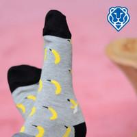 Women's Patterned Ped Socks - Banana