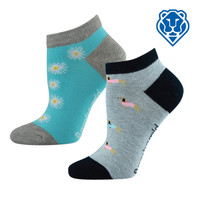 Women's Patterned Ped Socks - Assorted