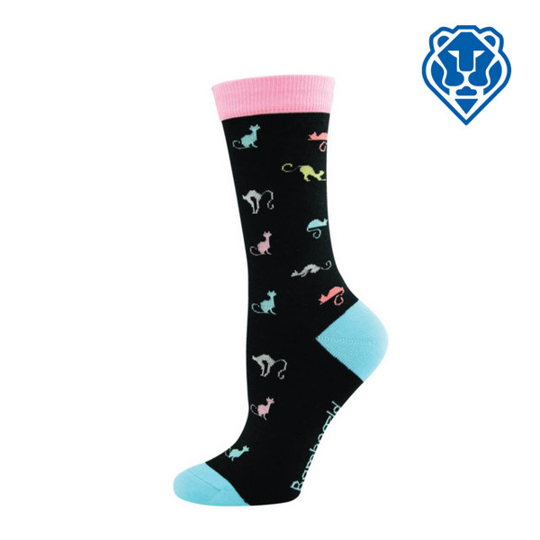 "Women's ""Bamboozld"" Business Socks - Ditsy Dog"