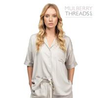 Harper Summer Sleepwear Shirt - Silver