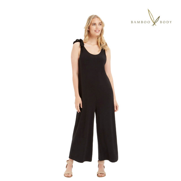 Classic Bamboo Jumpsuit - Black