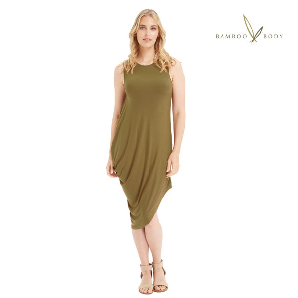 Bamboo Sasha Dress - Khaki