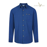 Men's Bamboo Woven Short Sleeve Button Shirt - Midnight Blue