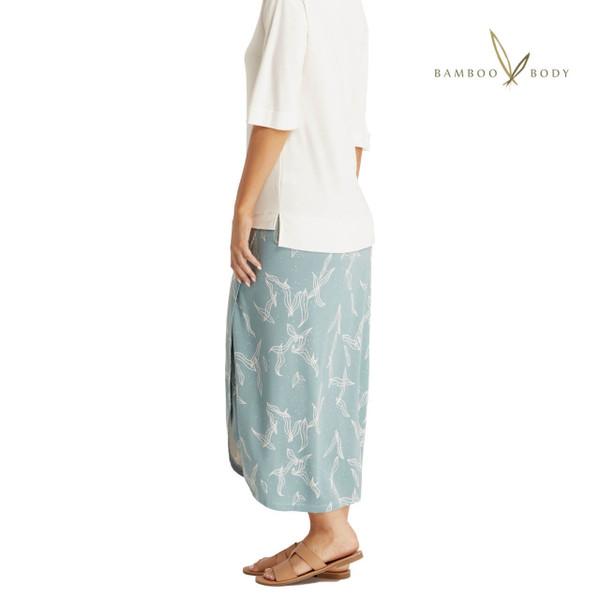 Bamboo Wrap Skirt - Eucalyptus