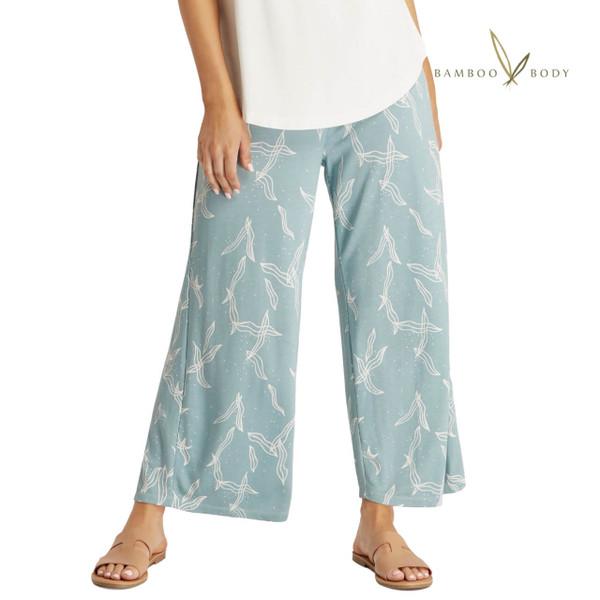 Bamboo Resort Pants - Eucalyptus Print