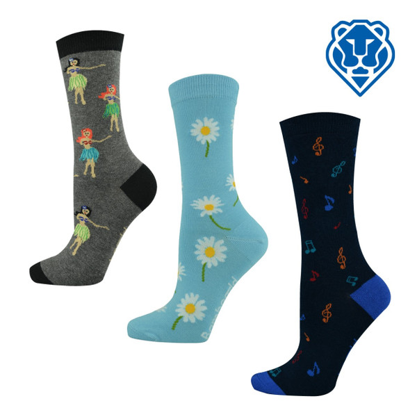 "Women's ""Bamboozld"" Business Socks - Assorted Designs"