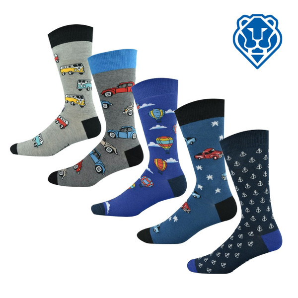 "Men's ""Bamboozld"" Business Socks - Vehicle Designs"