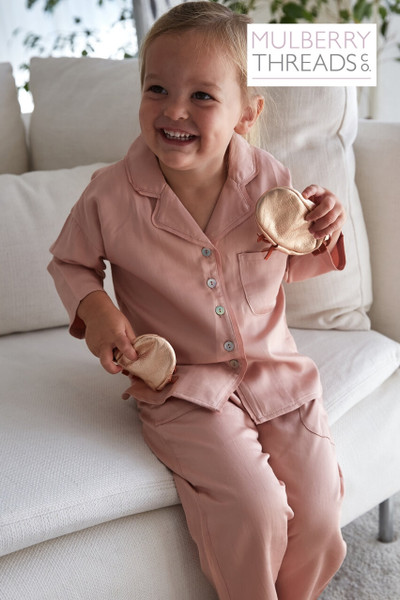 Mini Harper Sleepwear Set - Rose