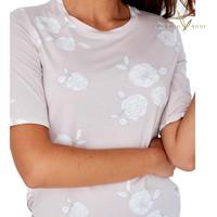 Bamboo Short Sleeve PJ Top - Camellia Print