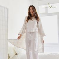 Bamboo Sleepwear Robe - Camellia Print