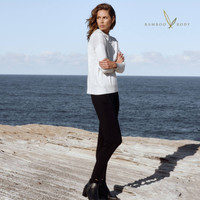 Women's Knit Bamboo Hoodie - Soft Marle