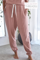 Melissa Bamboo Slouch Pant - Rose