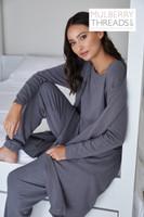 Melissa Bamboo Robe - Charcoal