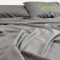 Bamboo Twill Fitted Sheet by Bambusa - Dove Grey