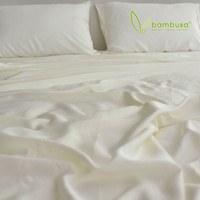 Bamboo Twill Fitted Sheet by Bambusa - Ivory