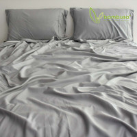 Bamboo Twill Fitted Sheet by Bambusa - Pewter