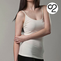 Bamboo Spaghetti Strap Camisole / Singlet - Ivory