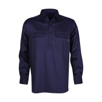 Men's 100% Bamboo Work Shirt (certified) - Navy (1006M)