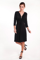 Sara Bamboo Dress - Black