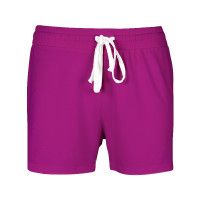 Women's Bamboo Drawstring Shorts  (XXL) - Purple