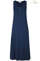 Women's Bamboo Henley Tank Dress - Navy