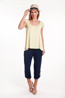 Women's Bamboo Michelle Top - Lemongrass
